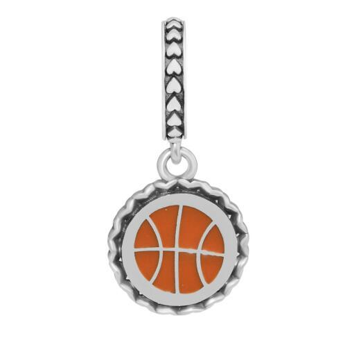 DIY Fits for Pandora Bracelet Charms Silver 925 Jewelry Basketball Dangle Charm Mixed Enamel Beads for Jewelry Making free shipping