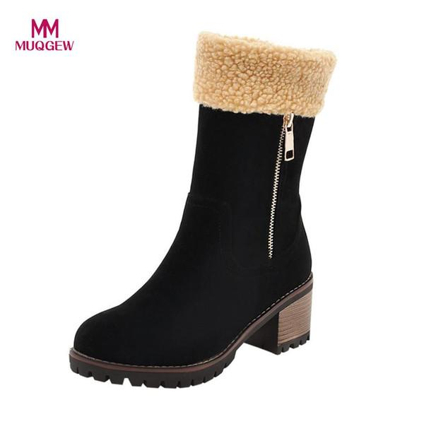 Heels Casual Schnee Flock Warme Großhandel Stiefel Weibliche Martin Winter Schuhe Bootie Outdoor Damen Med N0v8nOmyw