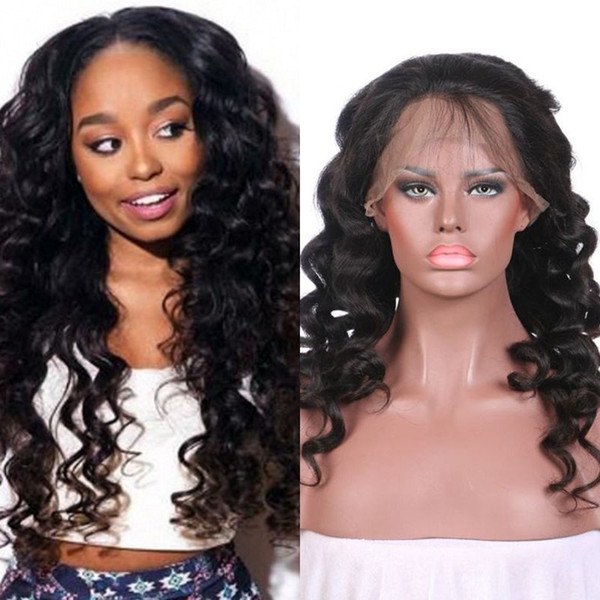 Burmese Virgin Hair Loose Wave Lace Front Human Hair Wigs Full Lace Wig with Baby Hair 8-32 inch FDshine