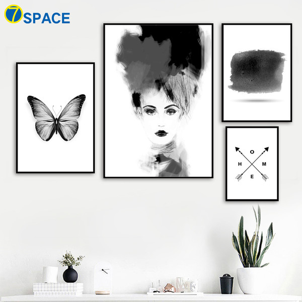 Wall Art Canvas Painting Nordic Posters And Prints Watercolor Girl Paintings For Living Room Wall Pictures Pop Art Decor