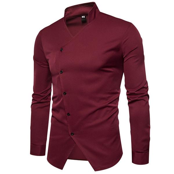 Wholesale winter autumn base business evening formal Collar Open fork stylist design long-sleeve shirt male men causal shirts