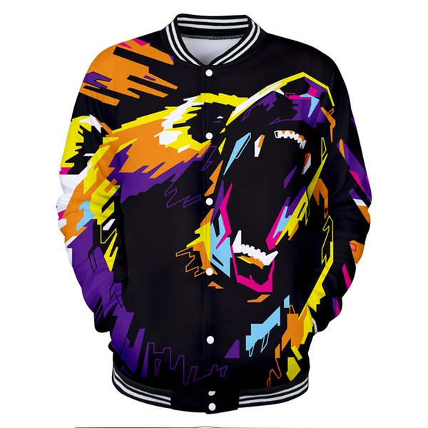 Hot Selling Personality Polar Bear 3D Print 2018 Autumn Winter Streetwear Tops Hip Hop Jackets Men Long Sleeve Tracksuit Hot Top