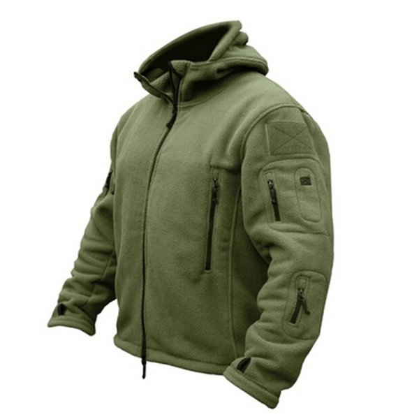 Man Fleece Tactical Softshell Jacket Outdoor Thermal Sport Hiking Polar Hooded Coat Outerwear Army Clothes Outdoor Cloth