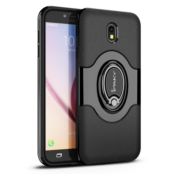 iPaky Magnetic Case For Samsung J3 J5 J7 Ring Stand Holder Back Cover PC+TPU Drop-proof Cases With Package In Stock