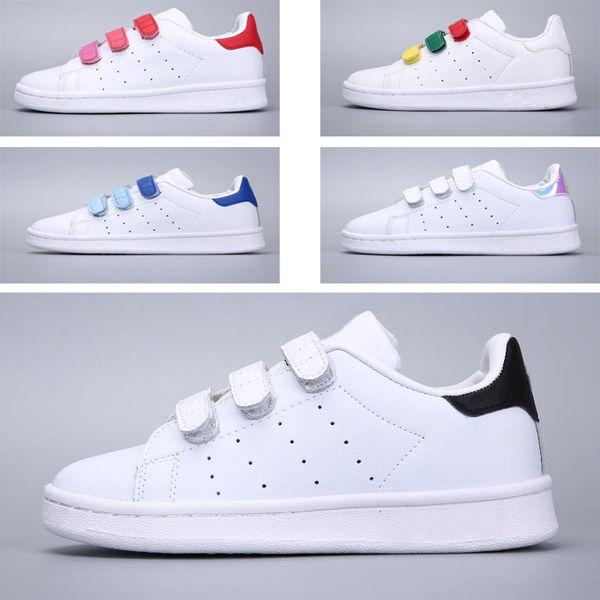 Acheter Adidas Stan Smith Superstar Printemps Automne Enfants Chaussures Mode Fille Causale Chaussures Super Star Garçon Running Sneakers Sport
