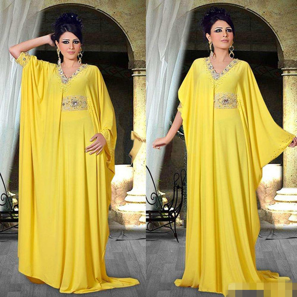 2018 Cheap Arabic Nigerian Middle East Abaya Celebrity Dresses Beads Collar Sashes Pleasts Party Formal Evening Prom Gowns Runaway Fashion
