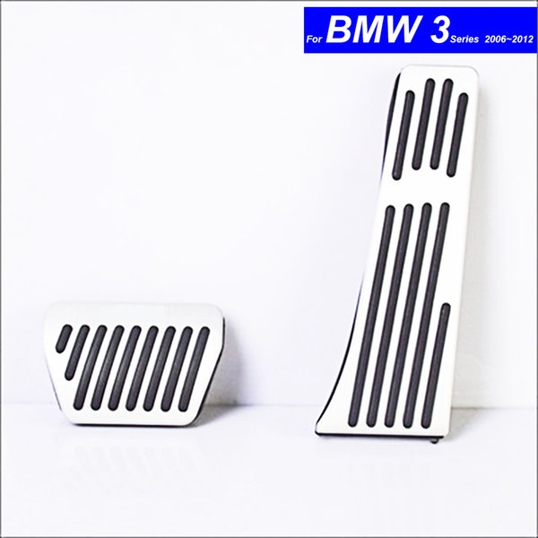 Car Petrol Clutch Fuel Brake Braking Pad Foot Pedals Rest Plate for BMW 3 Series 2006 2007 2008 2009 2010 2011 2012 with M Logo