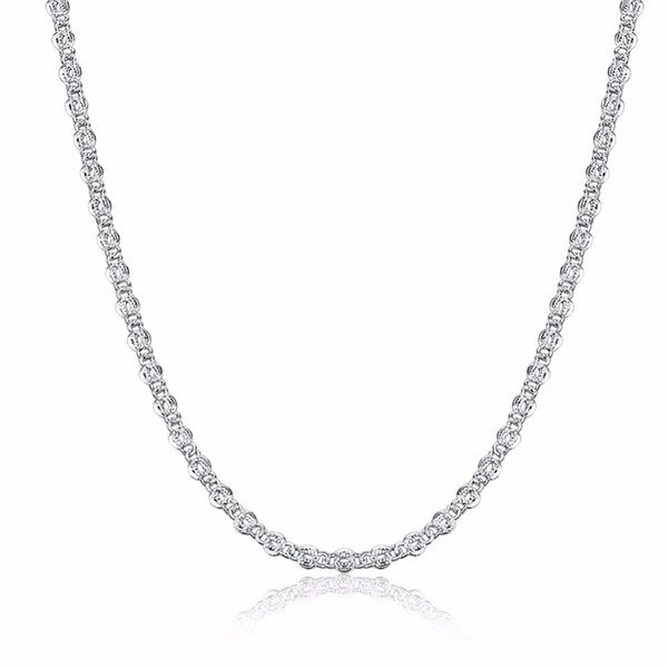 Free shipping 925 sterling silver necklace not allergic lock chain necklace fashion female models silver accessories DIY