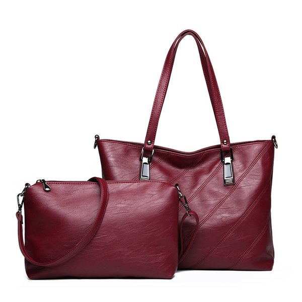 women leather handbags casual tote shoulder bags Ladies set small crossbody bags for women hand bag 2018 high quality black bag
