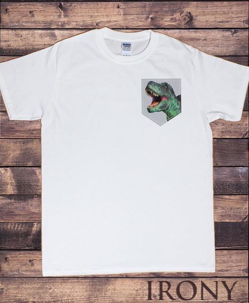 Weiß-Spitzen-Dinosaurier-Tasche der Männer - T-Rex Kreatur-Mode-Druck TS990Funny freies Verschiffen Unisexes beiläufiges Geschenk