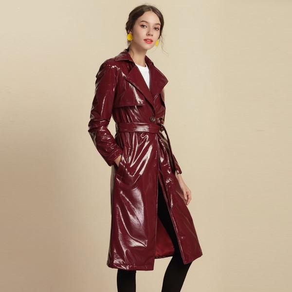 Marca de moda brillante de chaquetas de cuero, chaqueta de