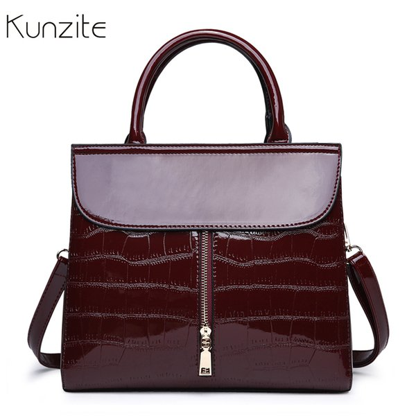 Ladies Hand Bags Alligator Pattern Leather Bag Handbags Women Famous Brand Shoulder Crossbody Messenger Bag Zipper Handbag Sac