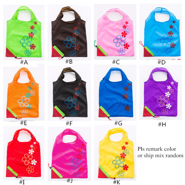 best selling Strawberry Foldable bag Reusable Eco-Friendly Shopping Bags Pouch Storage Handbag Strawberry Foldable Shopping Bags Folding Tote