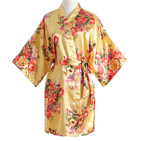 Sexy Flower Female Wedding Home Dressing Gown Mini Bride Bridesmaid Wedding Robe Summer Sleepwear Negligee Casual Nightgown