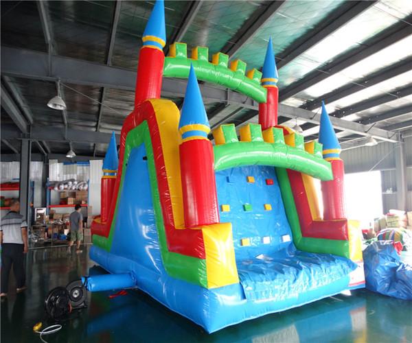 2018 New design slide for kids inflatable dry slide for sale inflatable land slide for kids