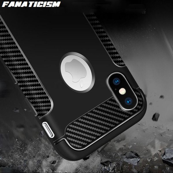 Luxury Shockproof Soft TPU Silicone Case For iphone X XR XS Max 5s SE 6s 7 8 Plus Carbon Fiber Desigh Back Cover