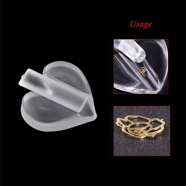 shape tool 1 Set Transparent Silicone Metal Mould Shape Star Heart Manicure Press Radian For Metal Foil Nail Art