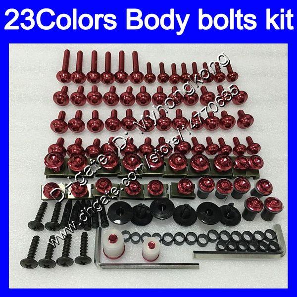 top popular Fairing bolts full screw kit For YAMAHA FJR1300 06 07 08 09 10 12 FJR 1300 2006 2007 2008 2010 2012 Body Nuts screws nut bolt kit25Colors 2019