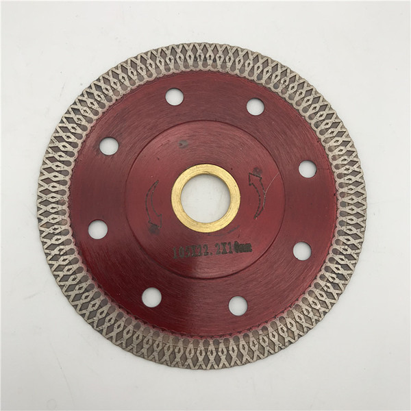 top popular Hot Sale Diamond Saw Blade 4 inch (105 mm) Ultra Thin Thickness 1.2 mm Cutting Disc for Porcelain Ceramic Tile Blade inner Hole 22.23 mm 2021