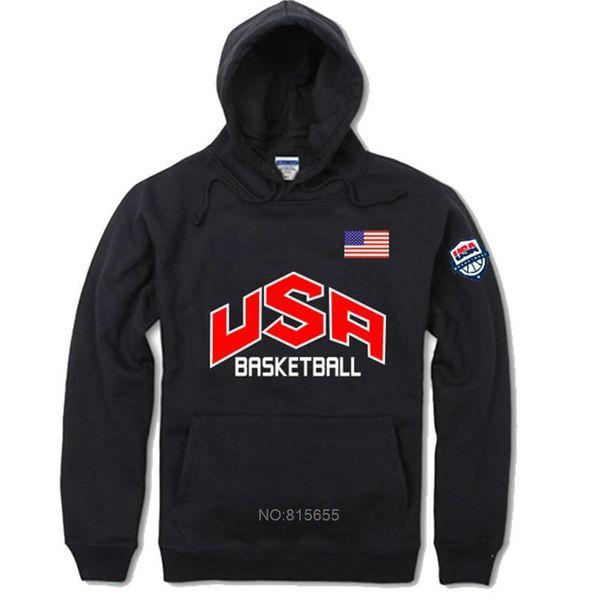 Mens USA Sterne und Streifen Große Tasche Hoodies Lose Turnhalle Pullover Winter Basketball Active Kapuzenpullover