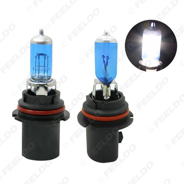 FEELDO 2PCS White 9004/9007 12V 55W/100W Car Fog Lights Halogen Bulb Headlights Lamp Car Light Source Parking #2031