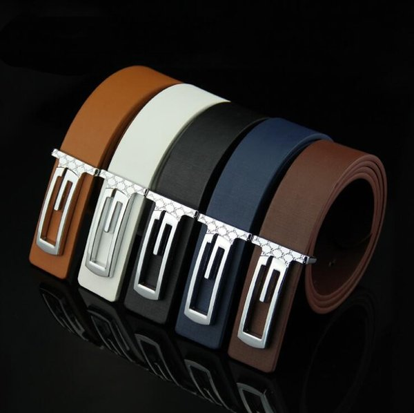 wholesale women men casual belts simple design solid color buckle belt female male fashion belts cheap
