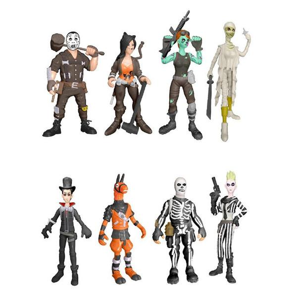 8 Style Fortnite Plastic Doll toys 2018 Nuovi bambini 10cm Gioco cartoon fortnite llama scheletro ruolo Figura Toy B