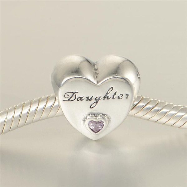 best selling Daughter's love charm wholesale S925 sterling silver free shipping H8