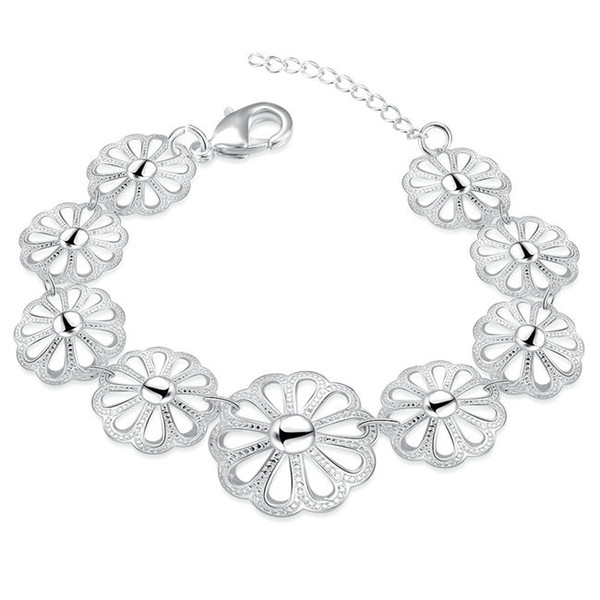 Hot sal!The wreath chain is popular an sterling silver plated bracelet SPB434;high quatity fashion men and women 925 silver Charm Bracelets