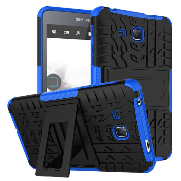 Hybrid Armor Shockproof Stand Case For Samsung Galaxy Tab A 2016 7.0 inch T280 T285 Table Soft TPU &PC Back Cover