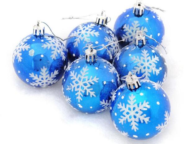 Set Decoraciones colgantes de plástico Bolas de adornos para el árbol de Navidad de plástico Cooper
