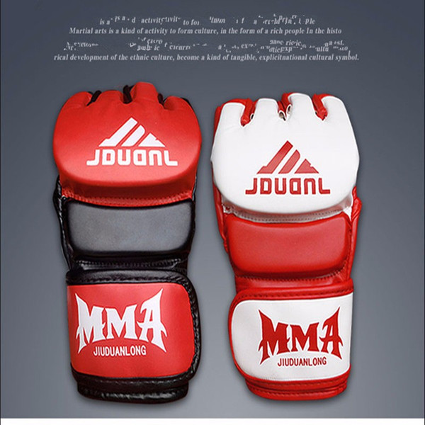 2017 MMA PU Boxing Gloves Sandbag Taekwondo Muay Thai Fight Boxe De Luva Training Sports Equipments New Arrival Protective Gear