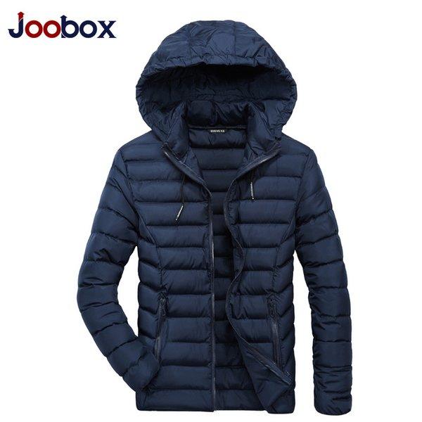 2018 New Parkas Men Winter Parka Thick Warm Hat Detachable Solid Color Zippers Parka for Male Plus Size XL-4XL Casual Jacket Man