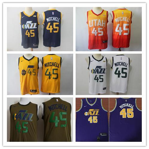 info for b4b48 4a242 2018 2019 New Mens 45 Donovan Mitchell Utah Jazz Basketball Jerseys  Authentic Stitched Mesh Dense AU Jazz Donovan Mitchell Basketball Jerseys  From ...