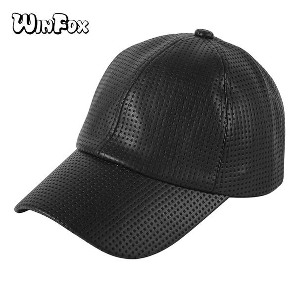 Winfox Moda Timsah Desen Siyah Mavi Erkekler Beyzbol Şapkası Hip Hop PU Deri Ayarlanabilir Snapback Açık Kapaklar Kadınlar Trucker