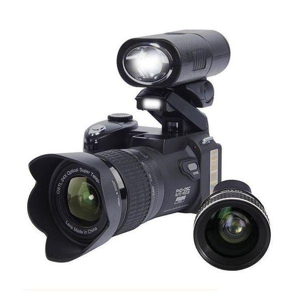 PROTAX D7300 digital cameras 33MP Professional DSLR cameras 24X Optical Zoom Telephotos& 8X Wide Angle Lens LED Spotlight Tripod