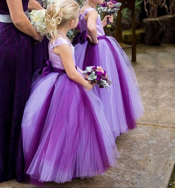 2019 Generous Birthday Party Dress Tulle Skirt flower girl dresses princess flower girl dress for wedding Kids