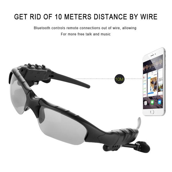 HBS-368 Gafas de sol Auriculares Bluetooth Gafas exteriores Auriculares Música con micrófono Auriculares inalámbricos estéreo para iPhone Samsung Azul / Rainbow