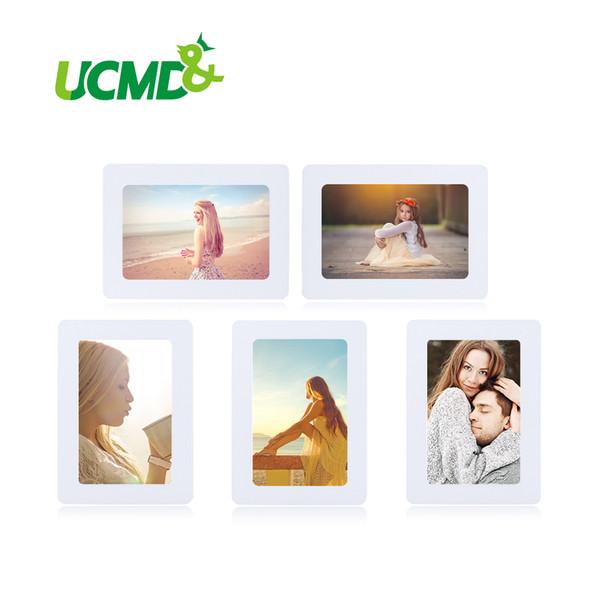 Magnetische Fotorahmen Kühlschrankmagnete Kühlschrank Dekor Flexible Multicolor Square Frame Bilderrahmen 5 Teile / los