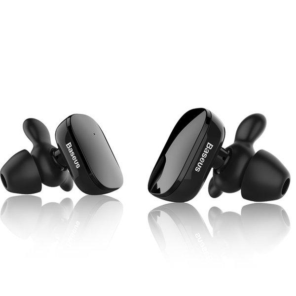 Baseus Encok W02 Verdadeiramente fone de ouvido Sem Fio Preto e branco, Verdadeiramente Sem Fio Mini Fones De Ouvido Bluetooth, Auriculares Fones De Ouvido Esportes Para Android