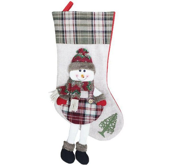 53*21*25cm Creative Snow Men Christmas Gifts Bags for Apple Long Boots Pattern Christams Non Wowen Bags