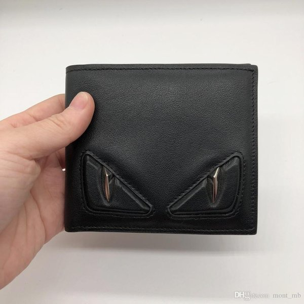 2018 F latest men's business luxury clip brand designer card holder fashion credit card holder ultra high quality wallets leather walle