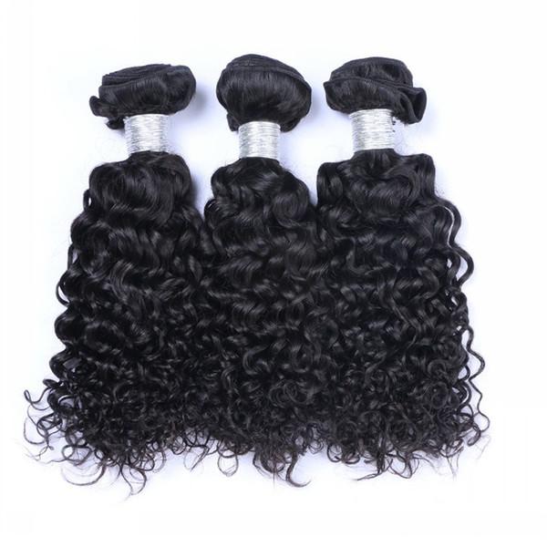 9A Brazilian Jerry Curly Human Hair Weaves 100% Unprocessed Peruvian Malaysian Indian Cambodian Jerry Curls Human Hair Extensions Curly Hair
