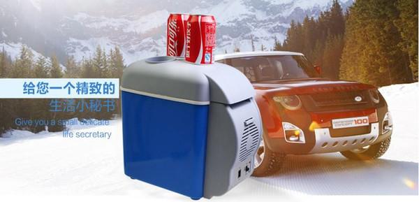 Été En Plein Air Portable Multifonction Mini Réfrigérateur De Voiture Cooler-Warmer Fishining Pique-Nique Seaux À Glace Épargnant Ice Cube Maker 12 V 7.5L