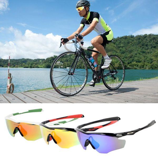 3 Peças Lentes Meia Armação Esportes Ciclismo Eyewear Polarizada Mountain  Bike Equitação Correndo Óculos Óculos De 1dcb4c5dcc