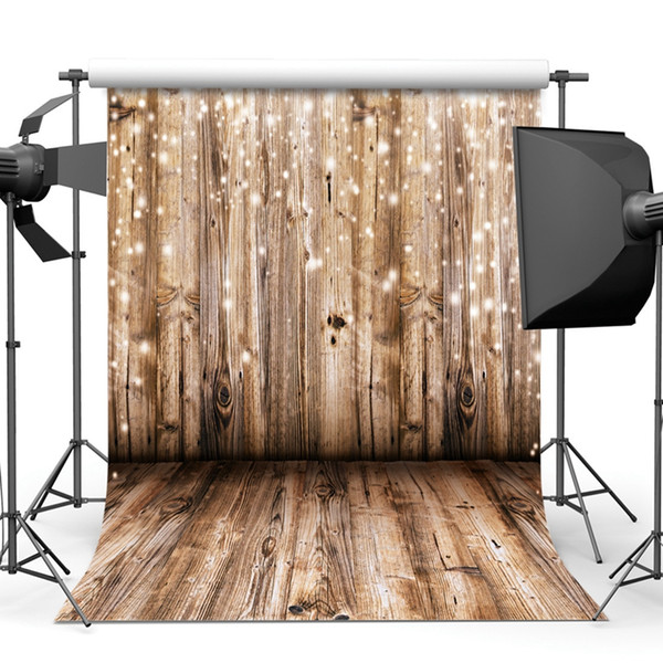 top popular 5x7ft wooden backdrop Vinyl Photography Background Wood Floor Pattern Photography Backdrops Home Decor Wallpapers Studio Props 2021