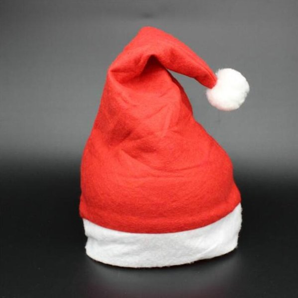 Christmas Party Santa Hat Red And White Cap Christmas Hat For Santa Claus Costume Christmas Decoration