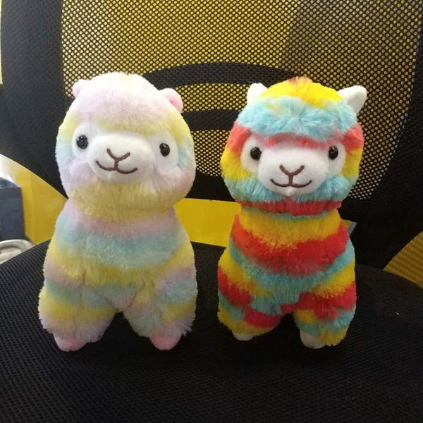 Llama Arpakasso Stuffed Animal 35cm/14 inches Rainbow Alpaca Soft Plush Toys Kawaii Cute for Kids Christmas present MMA736 50pcs