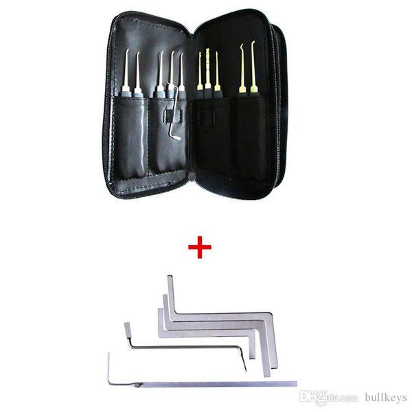 24pcs Hook GOSO Door Lock Pick Set Door Key Pick Set Locksmith TOOLS With Leather Bag + 5PCS Tension Wrenches Unlocking Tools