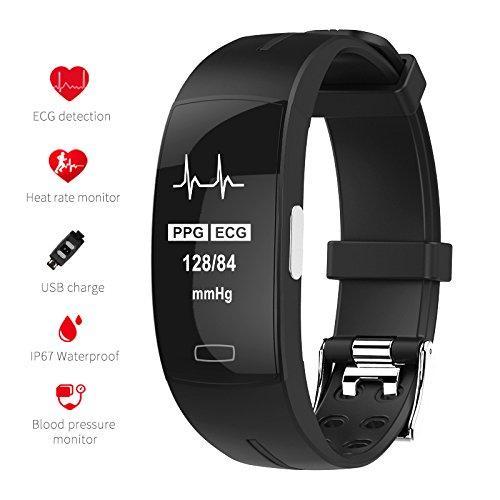 Fitness Tracker Smart HRM Bracelet avec moniteur de fréquence cardiaque et Podomètre Calorie Montre compteur